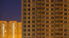 4K night to day timelapse of typical Russian residential area Stock Footage