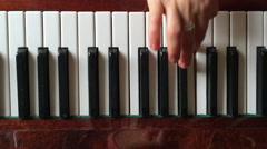 Hand, relaxation, performance, piano,piano lessons Stock Footage