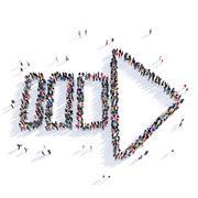 Arrow direction shape icon 3D rendering Stock Illustration
