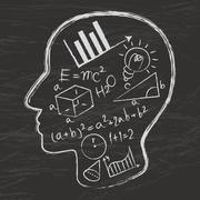 mathematics logo vector - stock illustration