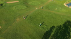 Aerial Shot of Golf Field in Sunny Day. Stock Footage