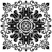 Elegant Vector Ornament in the Style of Barogue Stock Illustration