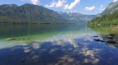 4K. Amazing Bohinj Lake in morning. Triglav National Park, Slovenia, Europe. Stock Footage