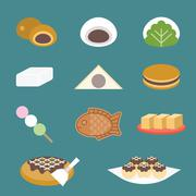 Vector Japanese sweets Stock Illustration