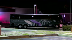 Pacific Western Canada parked coach charter bus Stock Footage