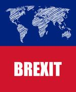 Brexit abstract business banner Stock Illustration