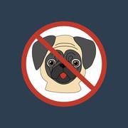No dog entry icon Stock Illustration