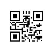 Qr code icon - stock illustration