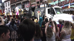 Black Space Matters float at Toronto's 36th Annual Pride Parade 2016  Stock Footage