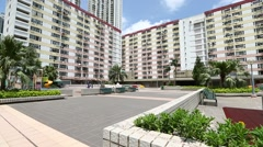 Residential district in Hong Kong - stock footage