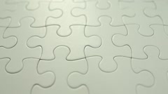 White completed puzzle - stock footage