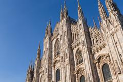 Duomo Cathedral of Milan Italy - stock photo