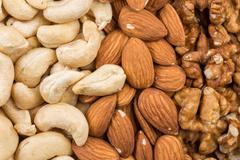 Variety of Mixed Nuts - stock photo