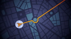 GPS Navigation, Localization. Seamless loop. 2D view. Stock Footage