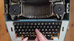 Typewriter, manual typewriter, novel, fairy tale, creativity Stock Footage