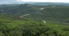 Mesa Verde National Park Winding Road Landscape Stock Footage