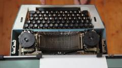 Typewriter, manual typewriter, novel, fairy tale, creativity Stock Footage