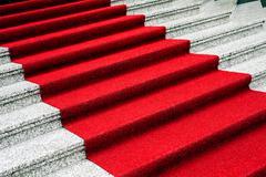 Red carpet Stock Photos