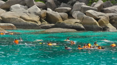 Snorkeling near Similans Stock Footage