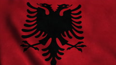 Realistic Ultra-HD flag of the Albania waving in the wind. Seamless loop with Stock Footage