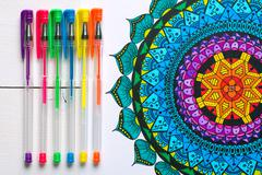 Adult coloring books, new stress relieving trend - stock photo