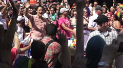 Canada's Prime Minister Justin Trudeau at the 36th Annual Pride Parade 2016 Stock Footage