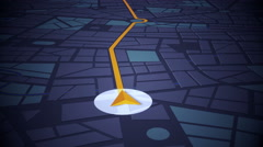 GPS Navigation, Localization. Seamless loop. 3D view. Stock Footage
