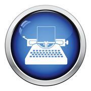 Typewriter icon Stock Illustration