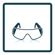 Icon of chemistry protective eyewear Stock Illustration