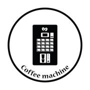 Coffee selling machine icon - stock illustration