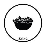 Salad in plate icon Stock Illustration