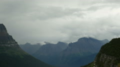 Glacier National Park Mountain Peaks and Dramatic Storm Clouds, TimeLapse - stock footage