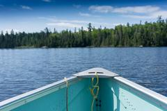 Contryside ontario canada nature on the boat Stock Photos