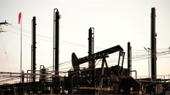 Oil Rig in USA 01 4K Stock Footage