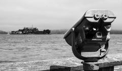 A view of Alcatraz Stock Photos