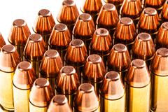 Bullets on white Stock Photos