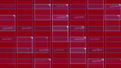 4k Virtual number square science tech lines matrix grid scanning background. Stock Footage