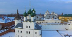 Kremlin (1670-1683) in Rostov the Great, one of the oldest russian town. Stock Footage