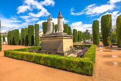 Alcazar Cordoba gardens Stock Photos