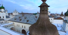 The Kremlin (1670-1683) in Rostov the Great, one of the oldest russian town. Stock Footage