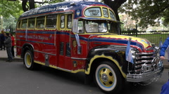 Key model of the 1950´s Argentinian Urban Bus public transportation Stock Footage