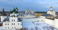 Citadel of Rostov the Great, one of the oldest towns in Russia. - stock footage