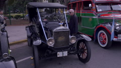 First model taxi bus of the late 1920´s and early 1930´s Stock Footage