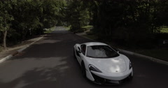 McLaren Car Aerial Stock Footage