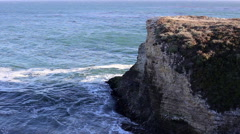 California Cliff and Ocean Stock Footage