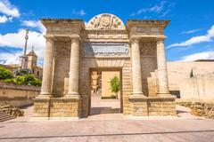 Puerta del Puente Cordoba Stock Photos