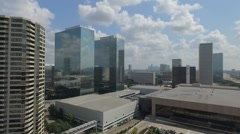 Greenway Plaza Aerial, Houston, Texas Stock Footage