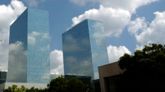 Time Lapse of Greenway Plaza in Houston Texas Stock Footage