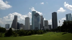 Houston Skyline Time Lapse Stock Footage