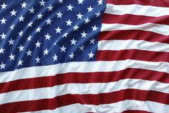 Closeup of rippled American flag Stock Photos